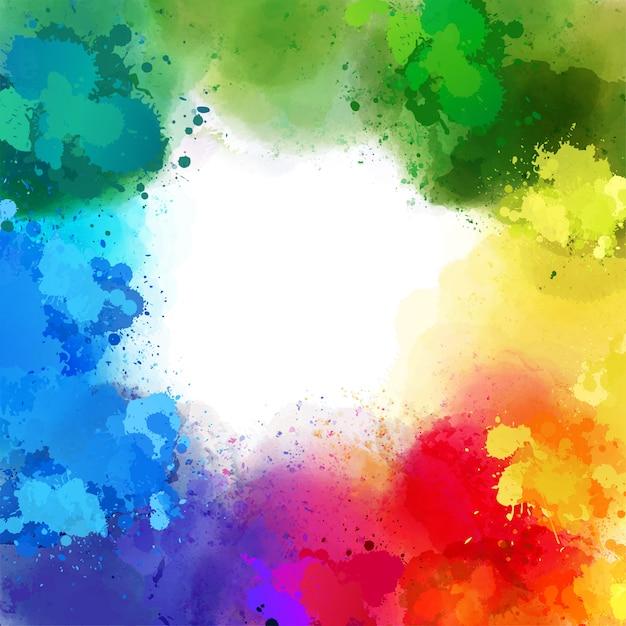 Splash fond de différentes couleurs de l'arc-en-ciel Vecteur Premium
