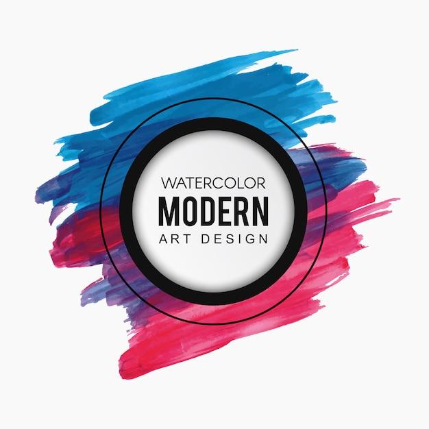 Splatter aquarelle coloré moderne art design Vecteur gratuit