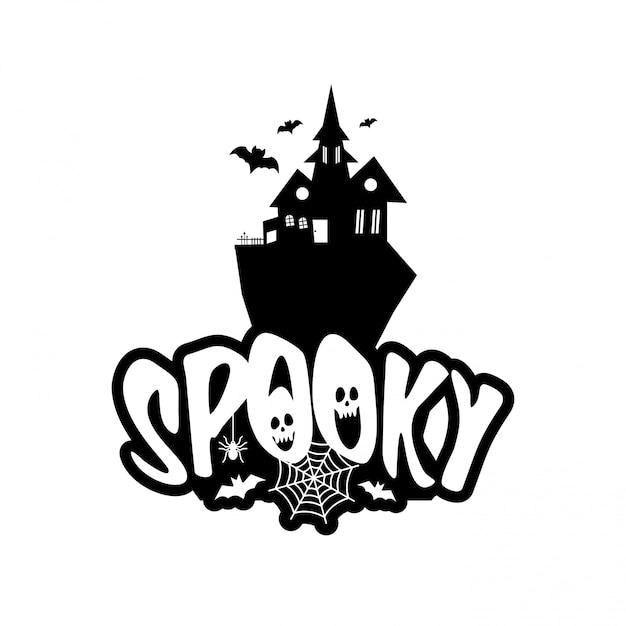 Spooky fun avec le vecteur de conception de typographie Vecteur gratuit