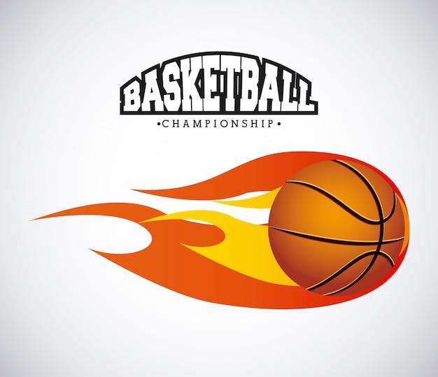 Sport de basket Vecteur Premium