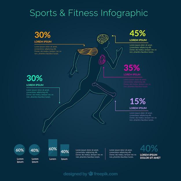 sport et fitness infographie t l charger des vecteurs gratuitement. Black Bedroom Furniture Sets. Home Design Ideas