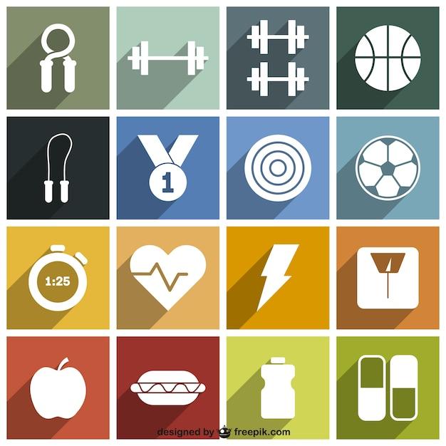 sport et fitness pack d 39 ic nes t l charger des vecteurs gratuitement. Black Bedroom Furniture Sets. Home Design Ideas
