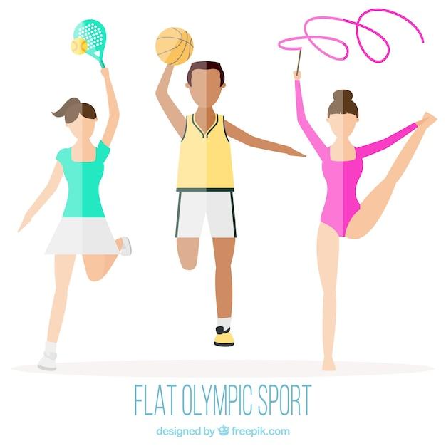 Sports Olympiques En Design Plat Vecteur gratuit