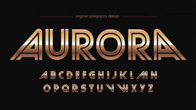 Sports résumé gold typography Vecteur Premium