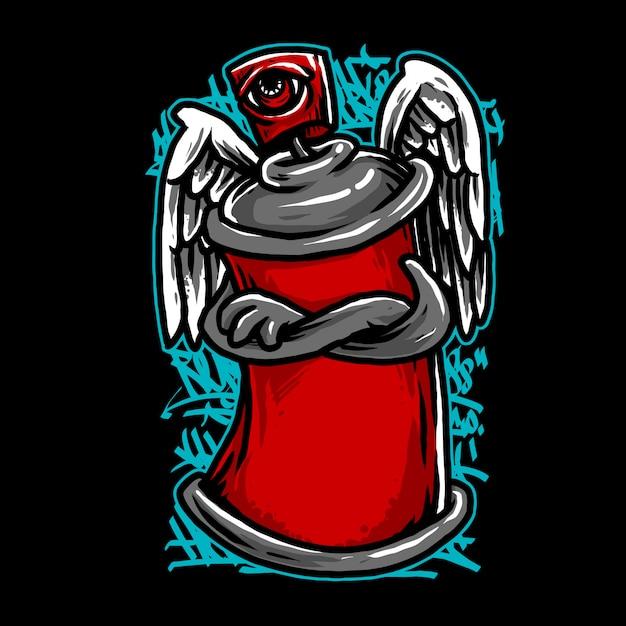 Spray ange Vecteur Premium