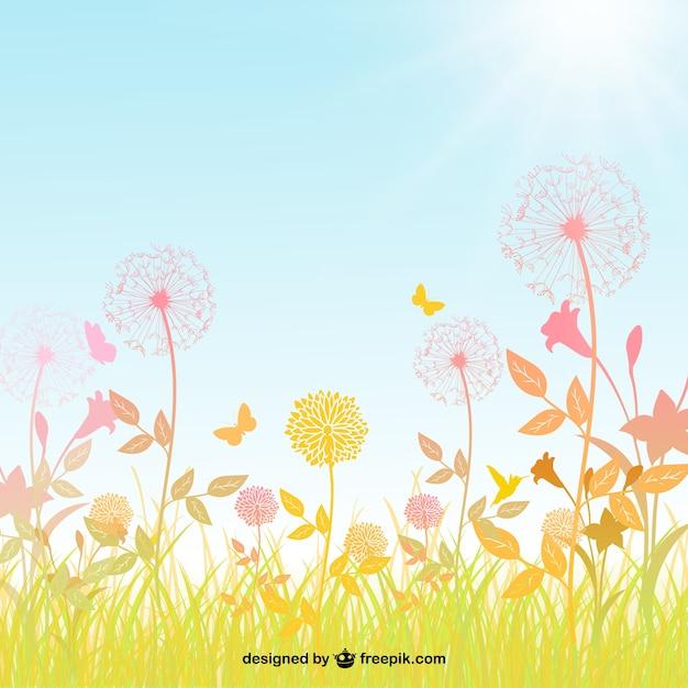 Spring background Vecteur gratuit