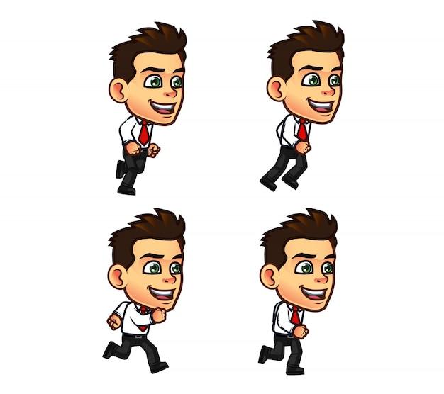 Sprite de dessin animé mignon homme d'affaires Vecteur Premium