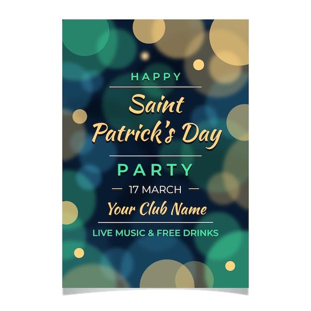 St Floue. Modèle D'affiche Patricks Day Vecteur gratuit