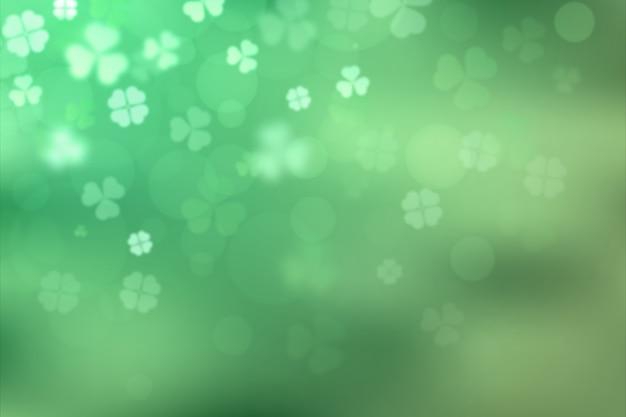 St Floue. Patrick's Day Avec Des Trèfles Vecteur gratuit