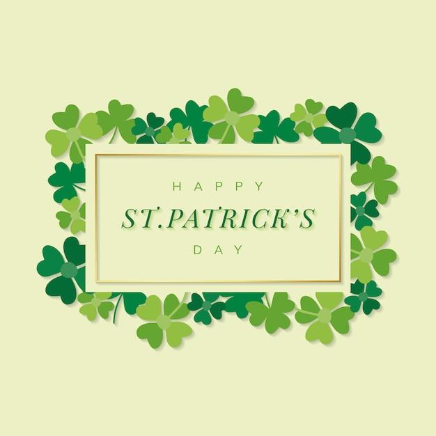St.patrick's day vecteur de bannière rectangle Vecteur gratuit