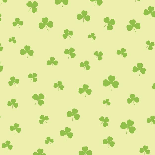 St Patricks Day Background Avec Motif De Trèfle Vecteur gratuit