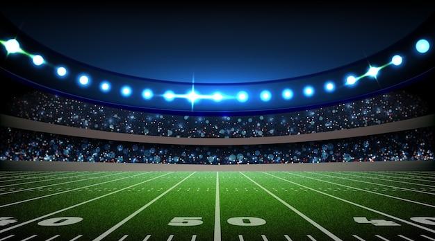 Stade De Football Américain Réaliste Vecteur gratuit