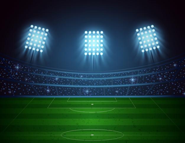 Stade de football. illustration vectorielle Vecteur Premium
