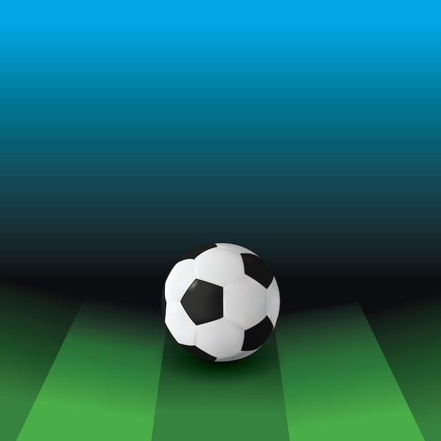 Stade De Football Vecteur Premium