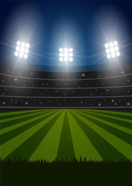 Stade De Vecteur De Football Vecteur gratuit