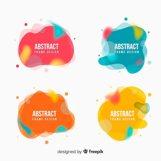 Stain Abstract Frames Vecteur gratuit
