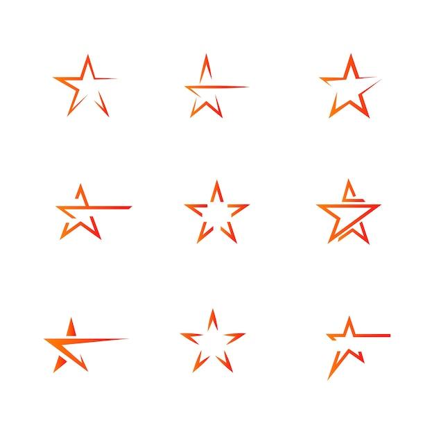 Star logo template vector icône illustration design Vecteur Premium
