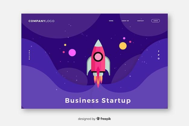 Start-up landing page de démarrage Vecteur gratuit