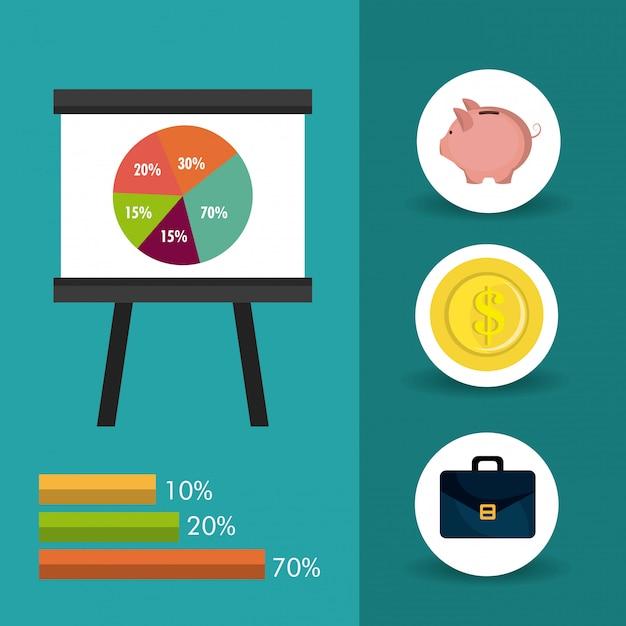 Statistiques de croissance des entreprises et d'économies Vecteur gratuit