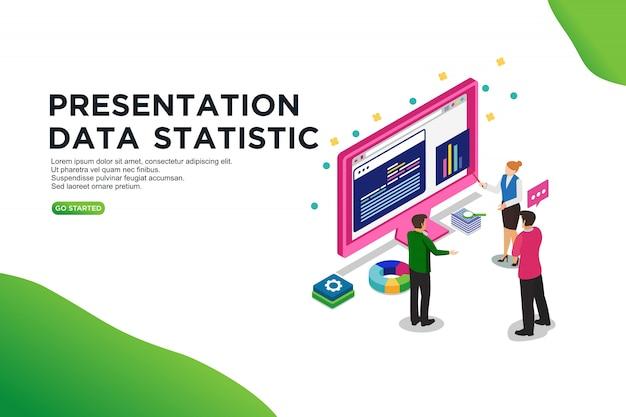 Statistiques de présentation Vecteur Premium