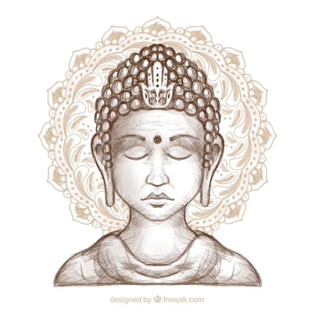 Statue de fond de bouddha Vecteur gratuit