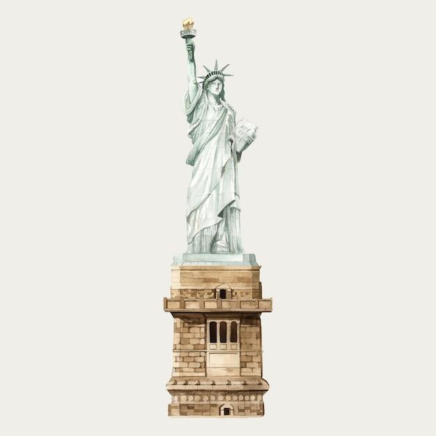 Statue de la liberté Vecteur gratuit