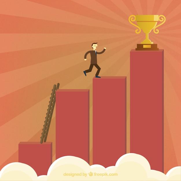 Steps to success concept Vecteur gratuit