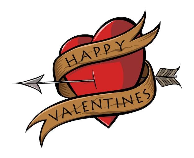 Stickers coeur saint valentin Vecteur Premium