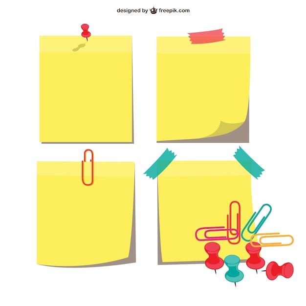 Sticky notes emballent Vecteur gratuit