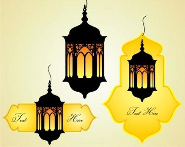 stock islamique célébration papillons vecteur Vecteur gratuit