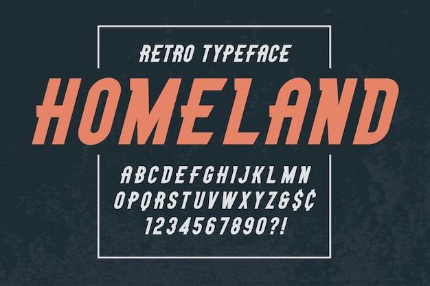 Stonepark design de polices d'affichage vintage à la mode Vecteur Premium