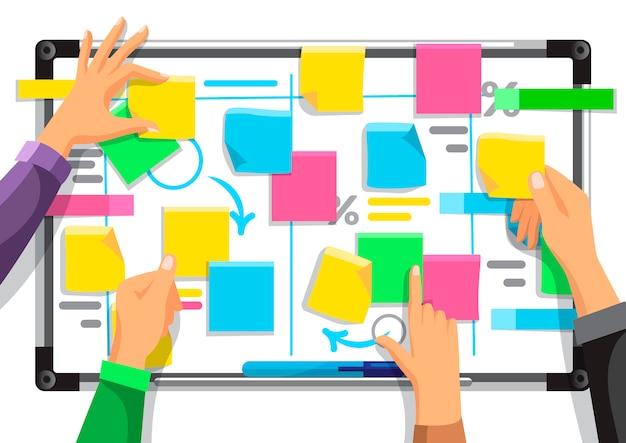 Stratégie D'entreprise Des Collaborateurs Vecteur Premium