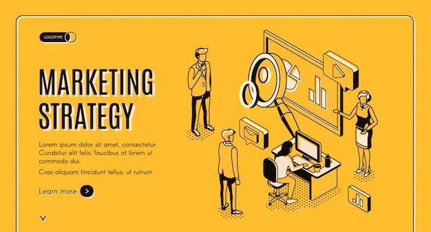 Stratégie marketing, entreprise d'analyse financière Vecteur gratuit