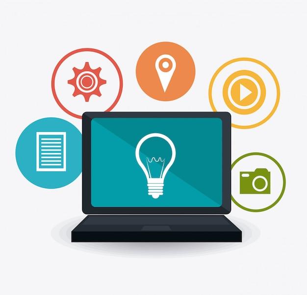 Stratégies de marketing numérique et social Vecteur Premium