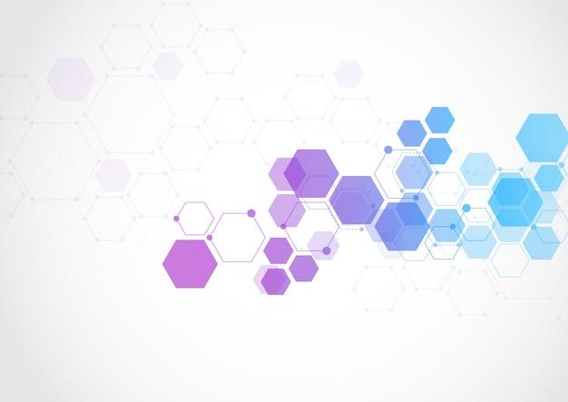 Structure abstraite de la structure moléculaire Vecteur Premium