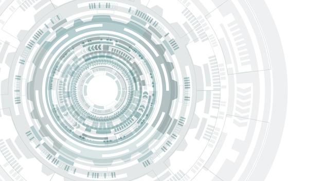 Structure de cercle abstraite hud interface utilisateur futuriste. fond de science. hi-tech abstrait. concept technologique futuriste. Vecteur Premium