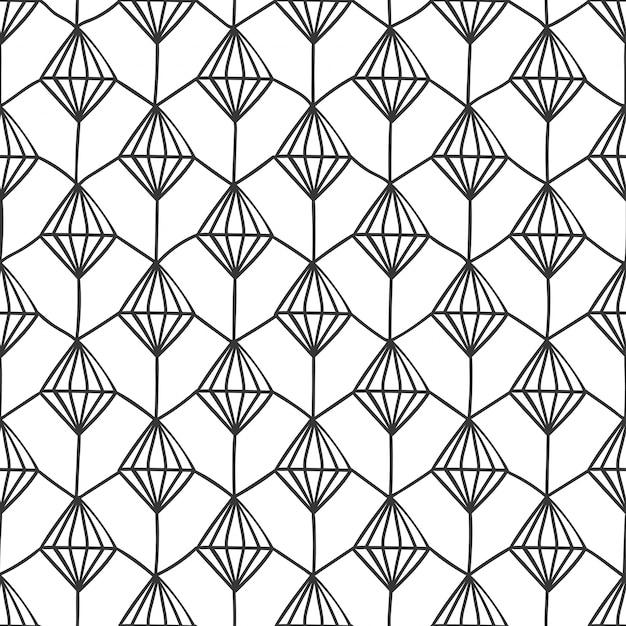 Structure de diamant texturé entrelacs géométrique Vecteur gratuit