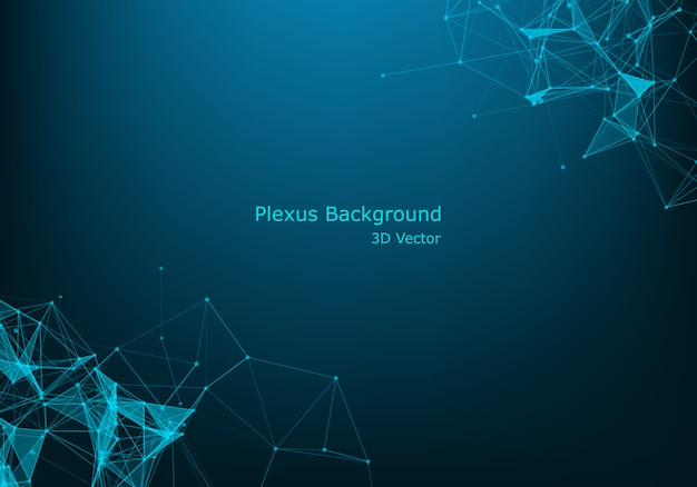Structure moleculaire. lignes connectées avec des points. Vecteur Premium