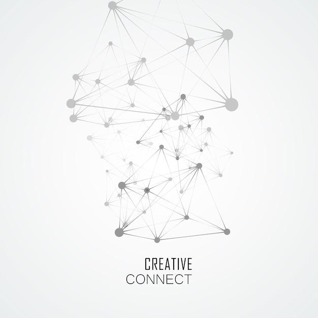 Structure De La Molécule Concept Dynamique. Abstrait De Technologie Vecteur Premium