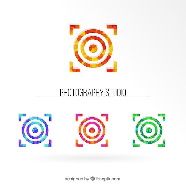 Studio photography collection logos Vecteur gratuit