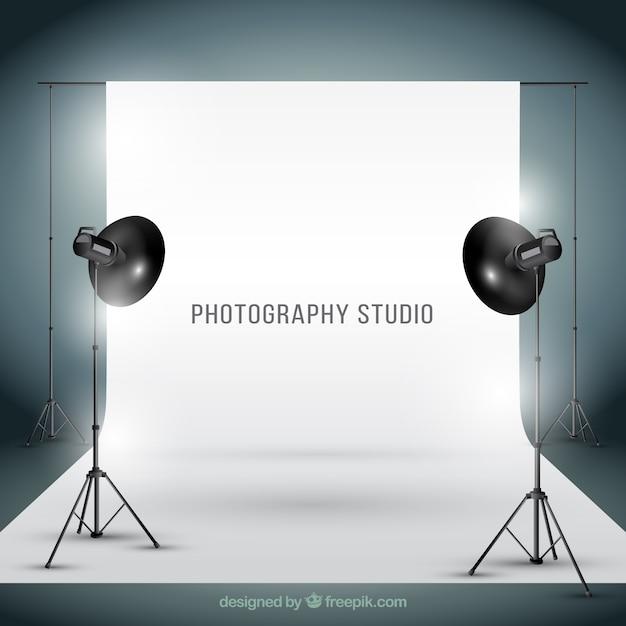 Studio photogtaphy dans un style réaliste Vecteur gratuit