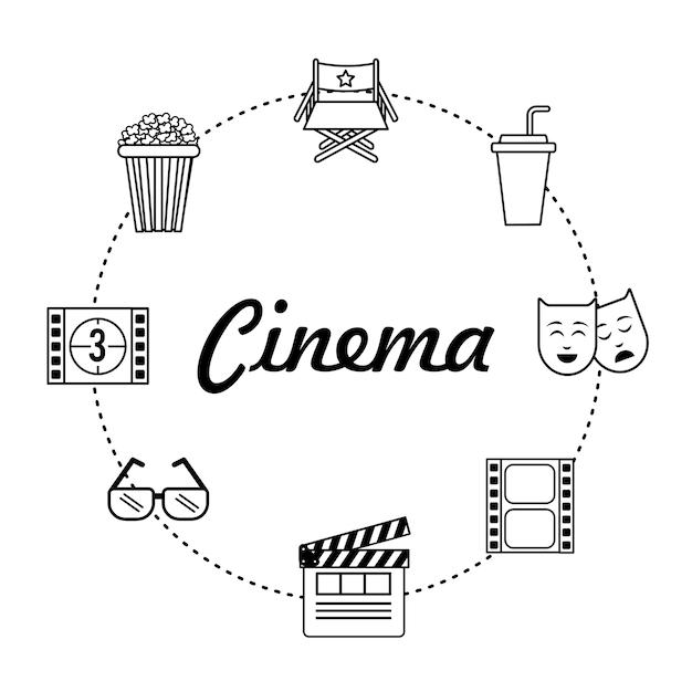 Studio de production d'outils cinématographiques Vecteur Premium