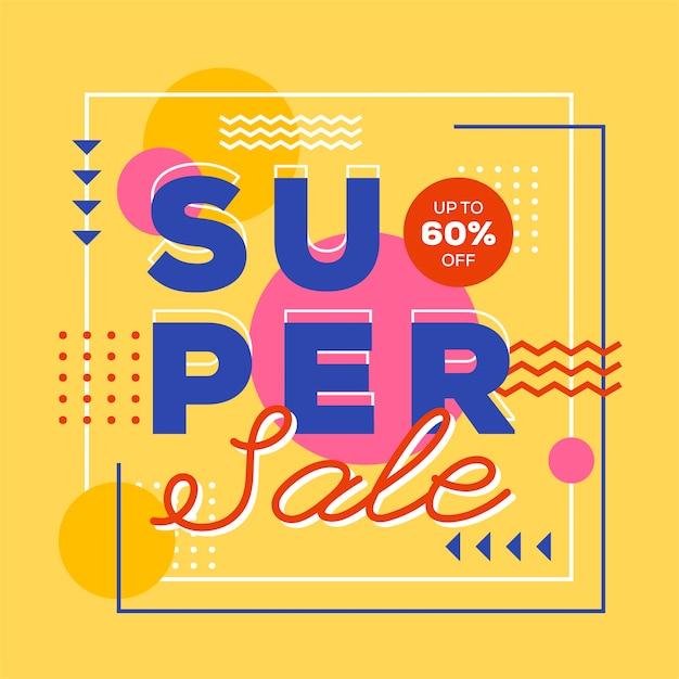 Style abstrait fond de vente super Vecteur gratuit