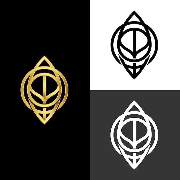 Style Abstrait Pour Logo En Deux Versions Vecteur gratuit