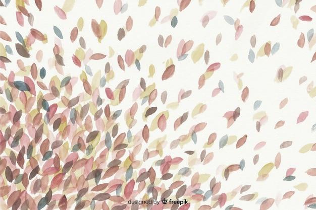 Style d'aquarelle fond décoratif automne Vecteur gratuit