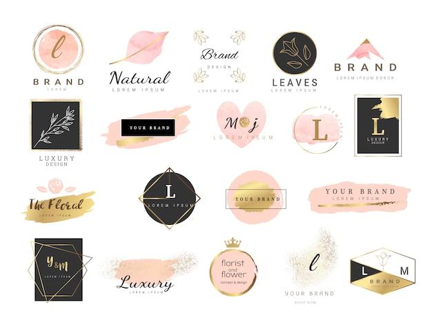 Style D'aquarelle Pour Le Modèle De Logo Premium Vecteur Premium