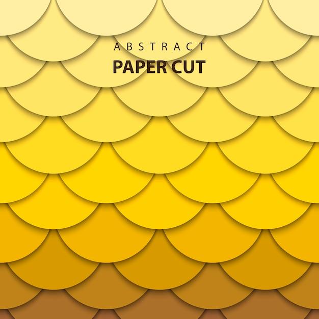 Style d'art abstrait papier 3d Vecteur Premium