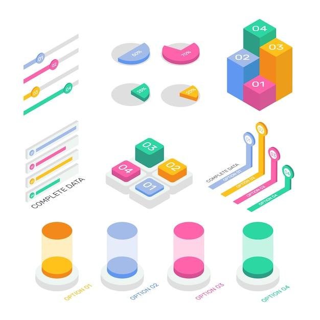 Style De Collection Infographique Isométrique Vecteur gratuit