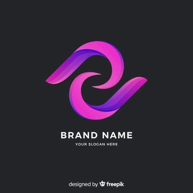 Style de dégradé de modèle de logo abstrait Vecteur gratuit