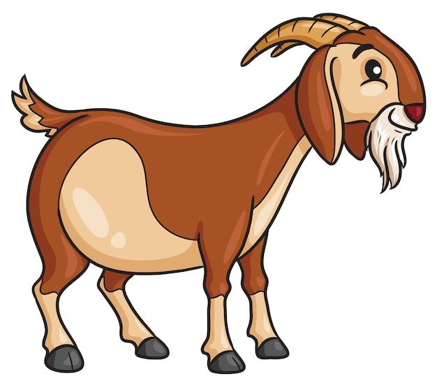 Style de dessin animé de chèvre Vecteur Premium